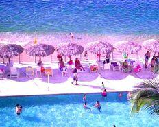 Con PLAYA Alberca y Vista al MAR Departamento en Acapulco