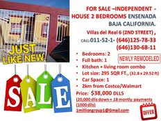 for sale in Ensenada Baja California 2 beds House asking $38,000 dlls low price 2km from costco store