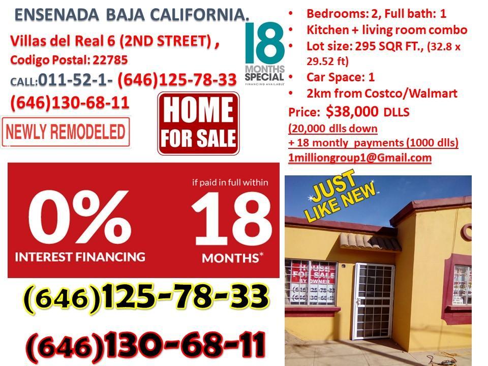 House for sale credit available Ensenada Baja california