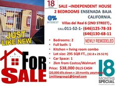 House for sale credit available Ensenada Baja california Low price 2 beds 1 car space 2km from costco