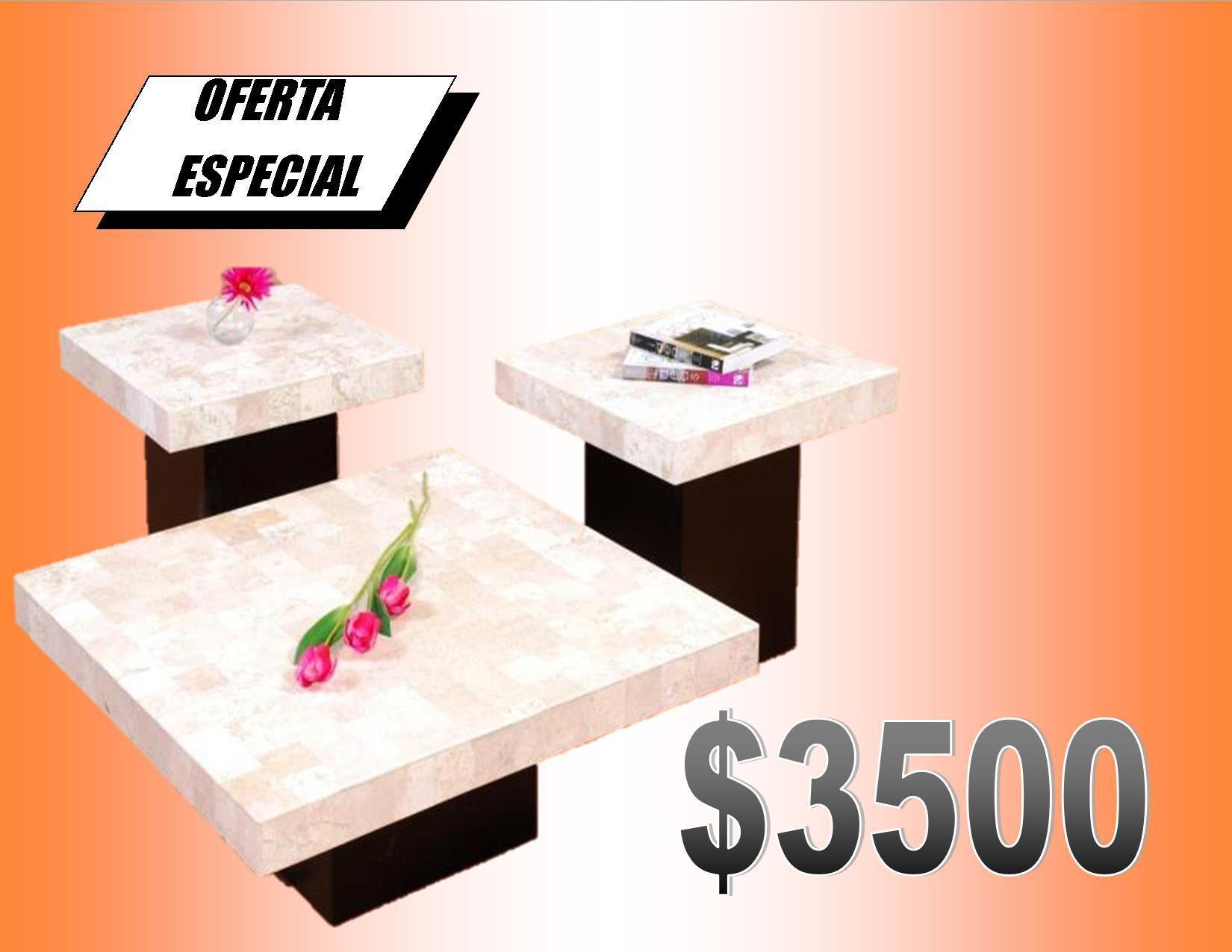 Mesas de centro marmol crema espa ol para sala for Marmol espanol precios