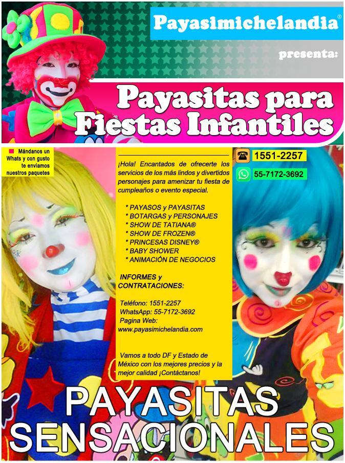 Payasitas Bonitas para Fiestas Infantiles - DFyEdoMex | Mercado.mx
