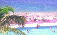 PLAYA, Vista Panorámica y Albercas Departamento a la Orilla del Mar en Acapulco