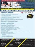 CURSO : ADMINISTRACIÓN, ORGANIZACIÓN Y PROCEDIMIENTOS EN LA FUNCIÓN DEL FEDATARIO GUBERNAMENTAL