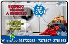 ¡RAPID! Técnicos Lavadoras [[General Electric]]998722262- La Victoria