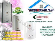Servicio técnico de termas KLIMATIC SAKURA reparaciones 7338618 mantenimientos 410-8759