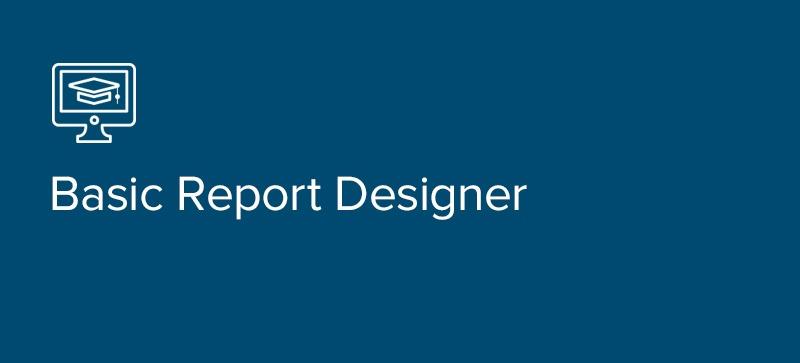 Basic Report Designer Class