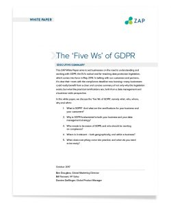 The 'Five Ws' of GDPR