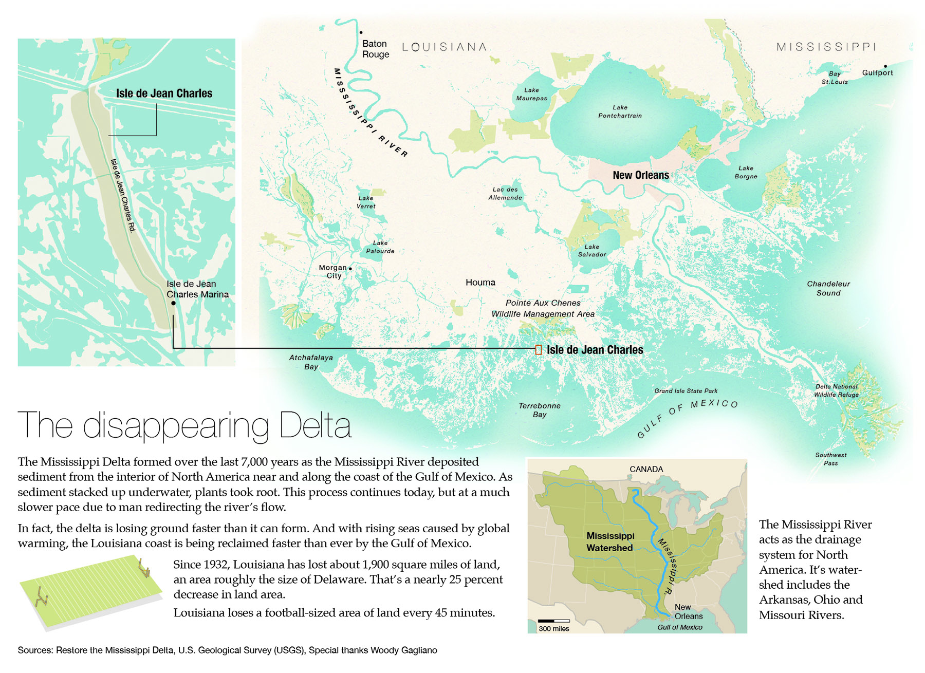 Disappearing Mississippi Delta Map
