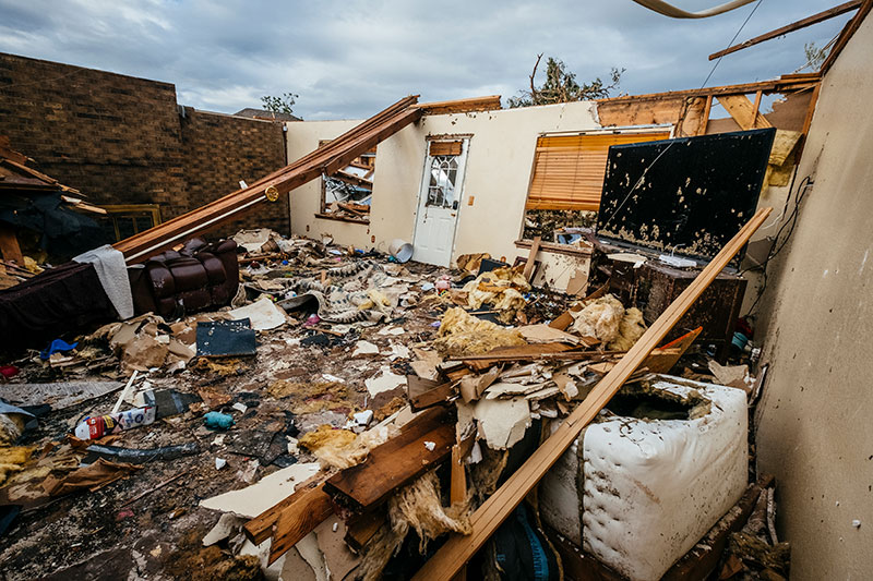 The inside of Krista Clem's home that was destroyed in the May 16 tornado in Elk City, Oklahoma.