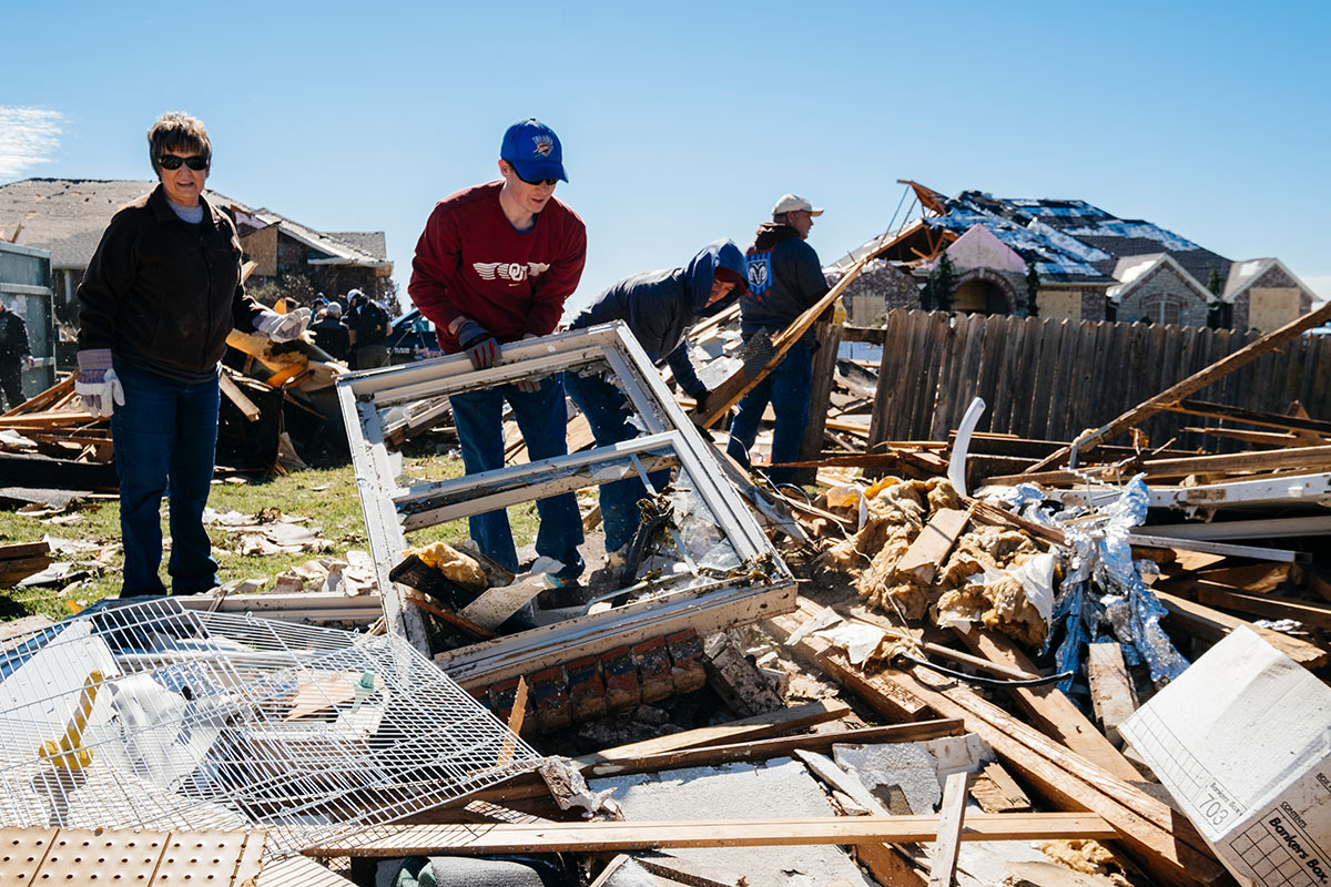 Vicki Tosh said tornadoes are a way of life in Oklahoma. She's already had to replace one of her home's walls from a previous tornado, and while this was the worst the town has experienced in decades, she expects many people will soldier on and rebuild. Elk City's spirit isn't crushed, she said. Far from it.