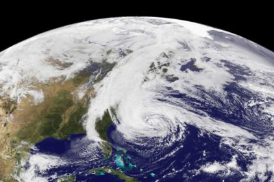 Hurricane Sandy satellite view image