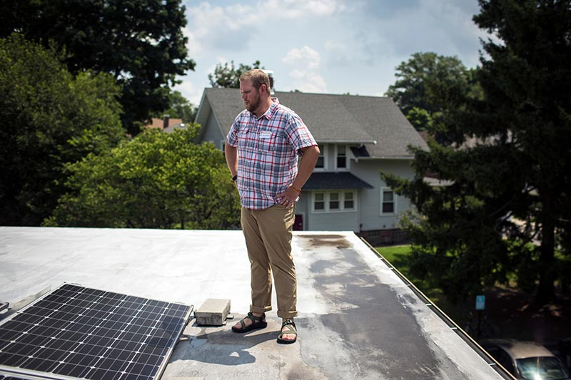 Pastor solar panels church Indiana
