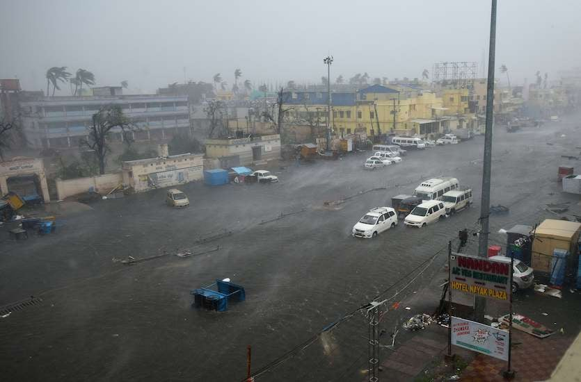 May billion-dollar disaster 1. Tropical Cyclone Fani struck the state of Odisha in India on May 3, 2019 as a Category 4 storm with 135 mph winds, killing at least 89 people. The storm caused widespread damage in the towns of Puri, Cuttack, and the state capital of Bhubaneswar. At least 64 people died in the state before tracking into the neighboring state of West Bengal. Fani entered Bangladesh on May 4 bringing heavy rain and storm surge, resulting in 17 deaths. Total damage was expected to exceed $2 billion. Above: A view of Grand Road in Puri, India, during Tropical Cyclone Fani on Friday, May 3, 2019. Image credit: Arijit Sen/Hindustan Times via Getty Images).