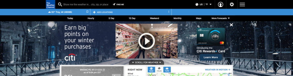 Citi_Rewards_008 - Wintry Night Shopping Cart (Open)