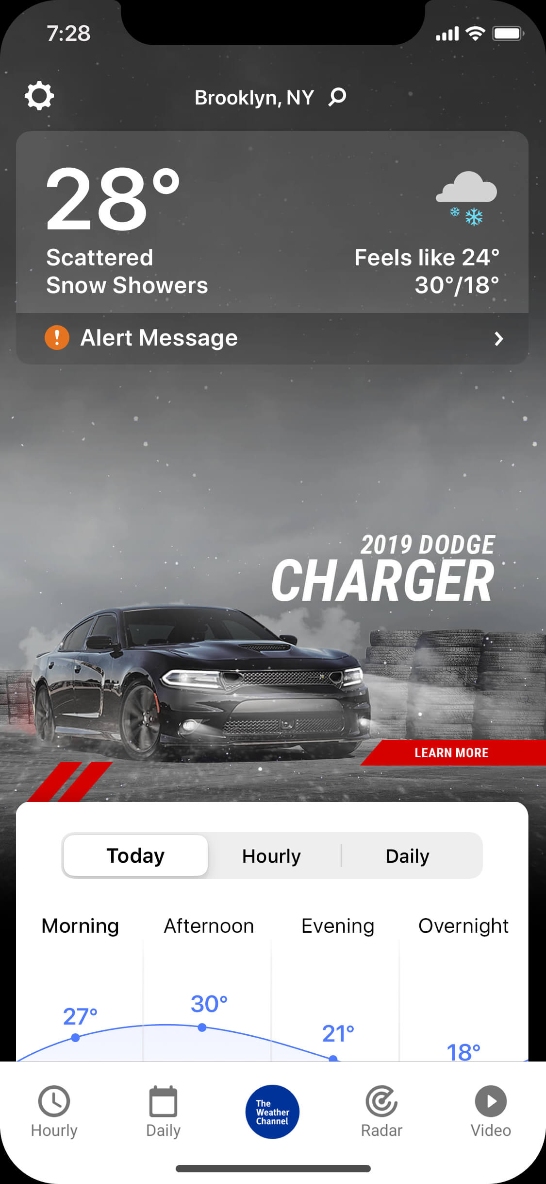Charger_wintry_day