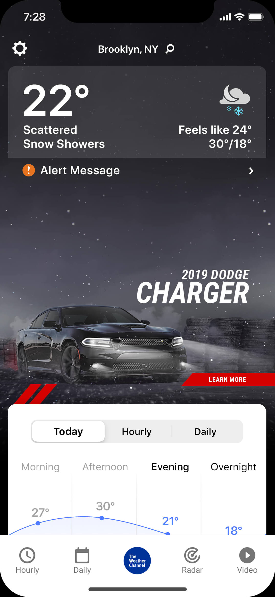 Charger_wintry_night