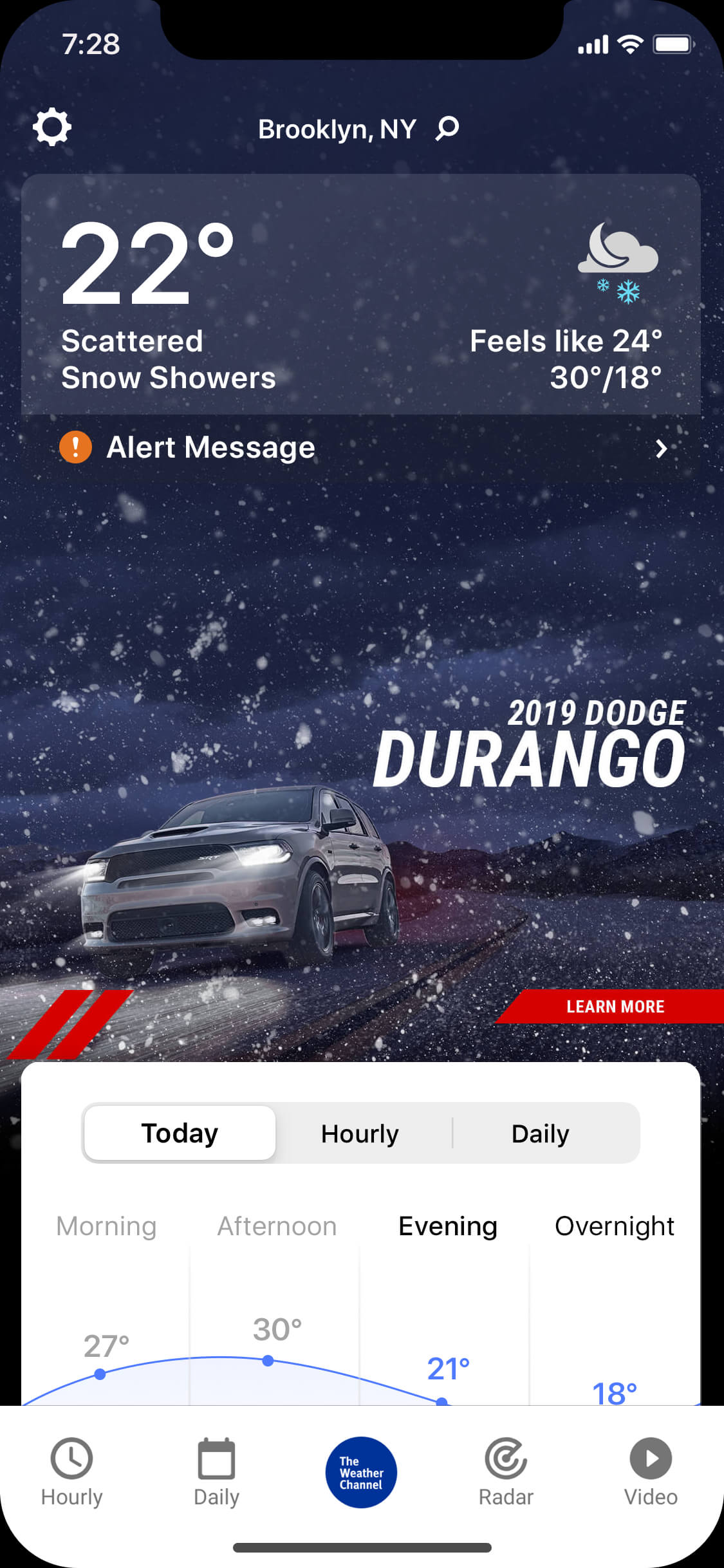 Durango_wintry_night