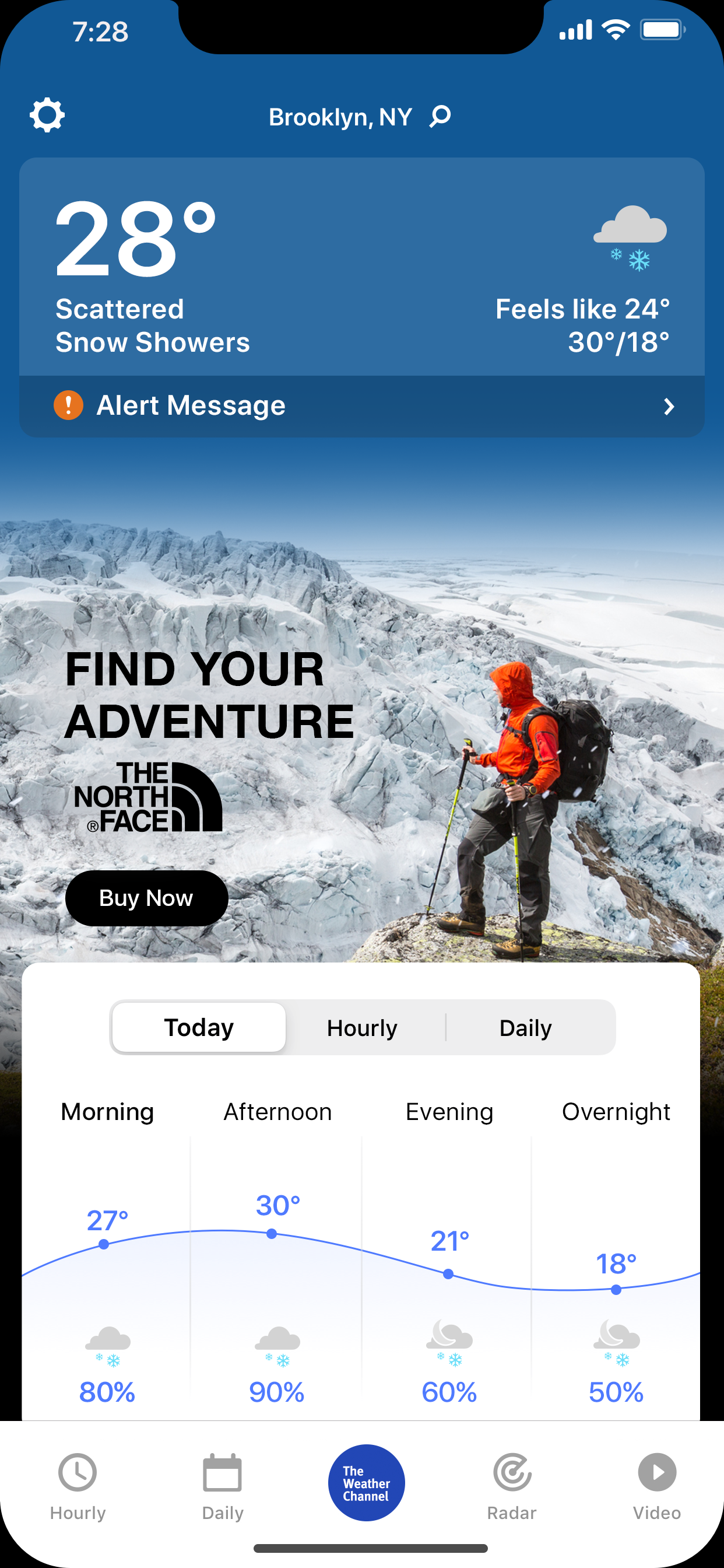 The North Face Mobile App IM NextGen Mock