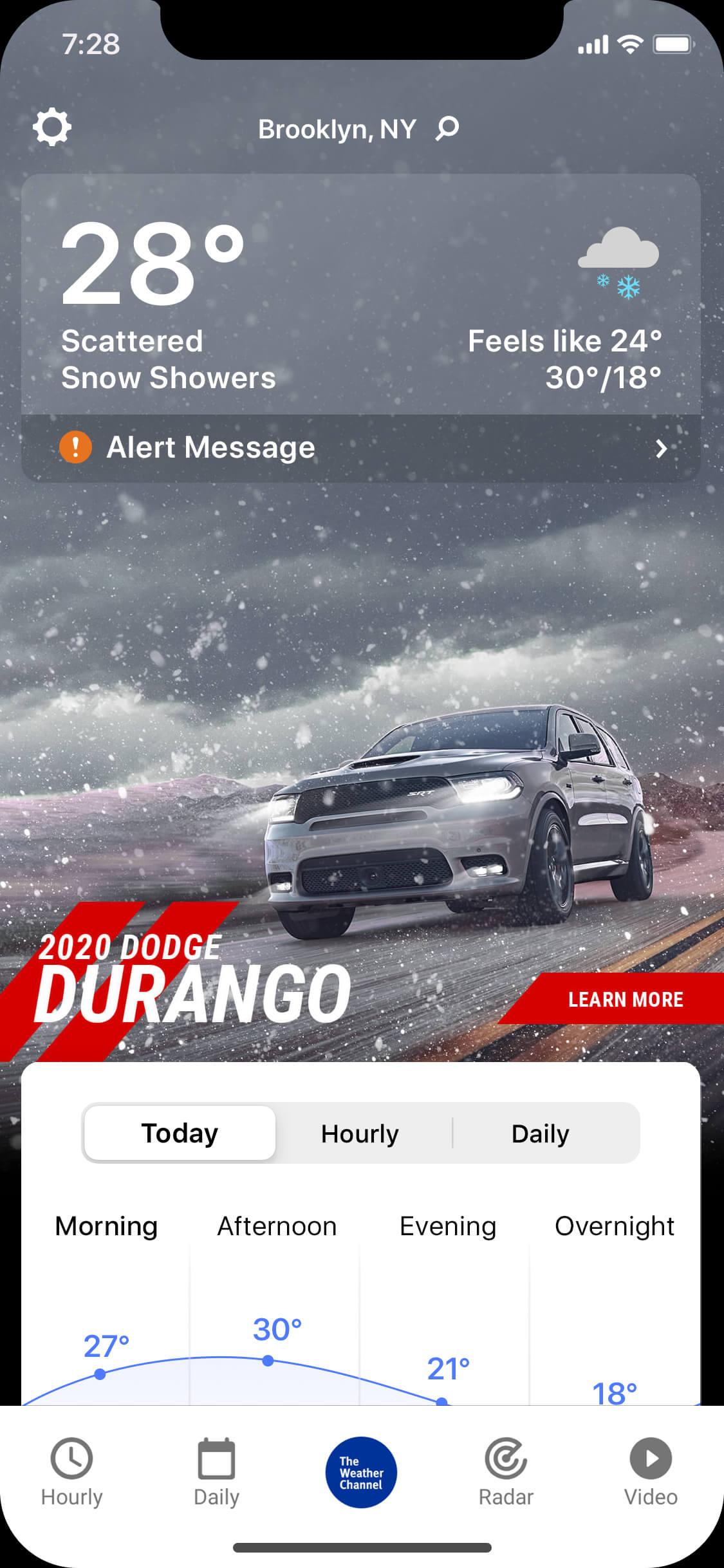 Dodge_Durango-wintry_day