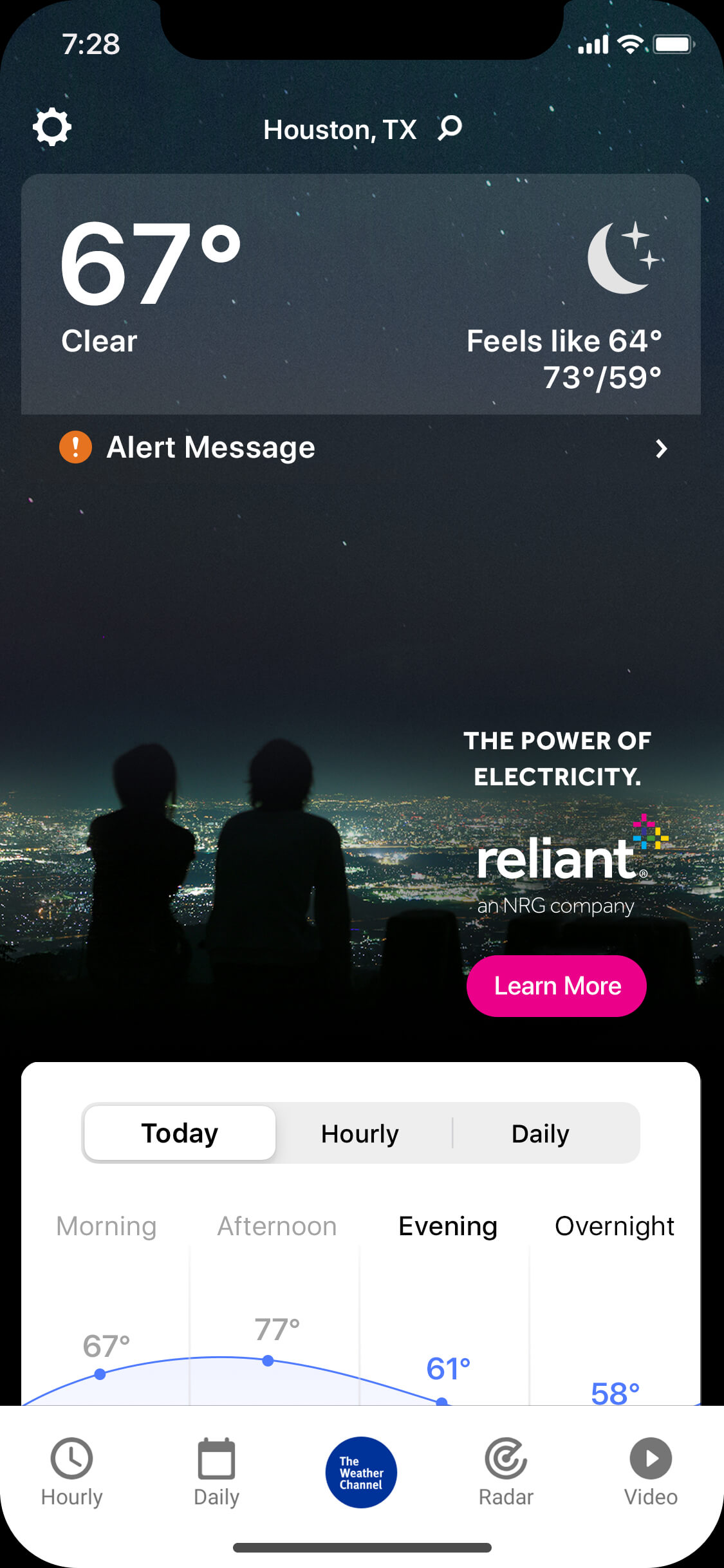 reliant-clear-night