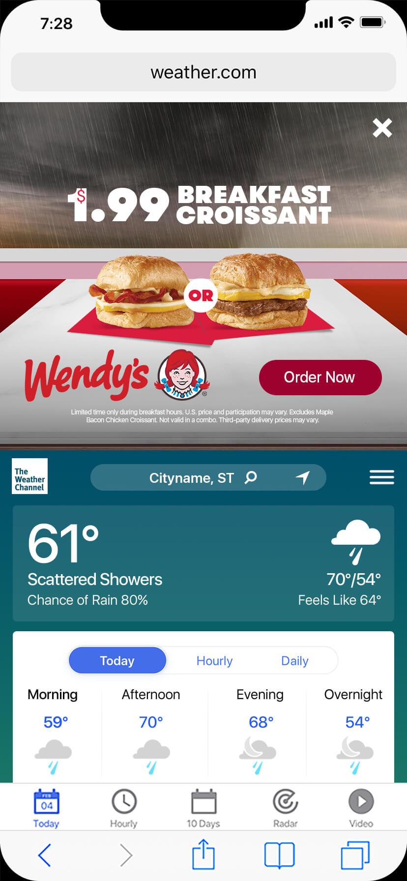 Open-Wendy's Fall Breakfast-rain-d
