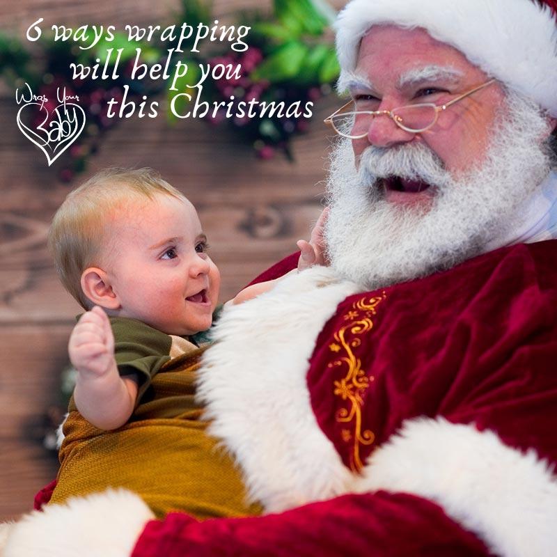 80bf4c2f028 Babywearing Santa - Santa wraps babies!