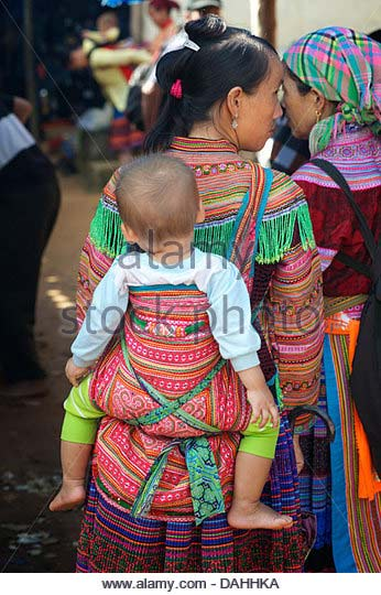 Hmong Baby Carrier in VietNam