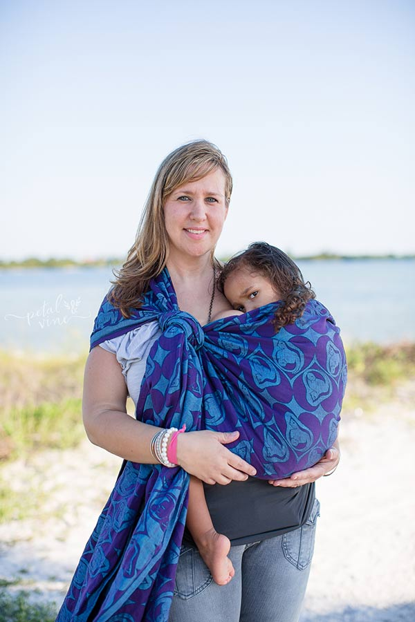 One layer carries and nursing on the go make Summer Babywearing possible