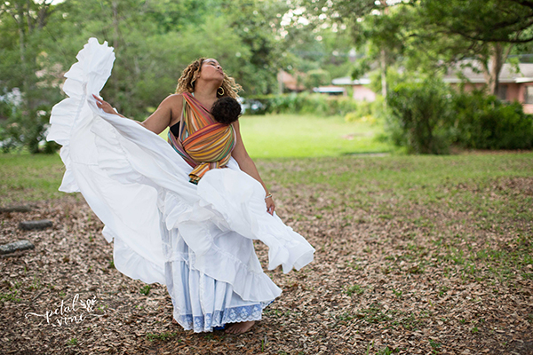 Bomba Dancing with Barefoot Rainbow