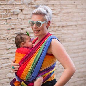 Rainbow Baby Easycare Wrap, Raspberry Weft