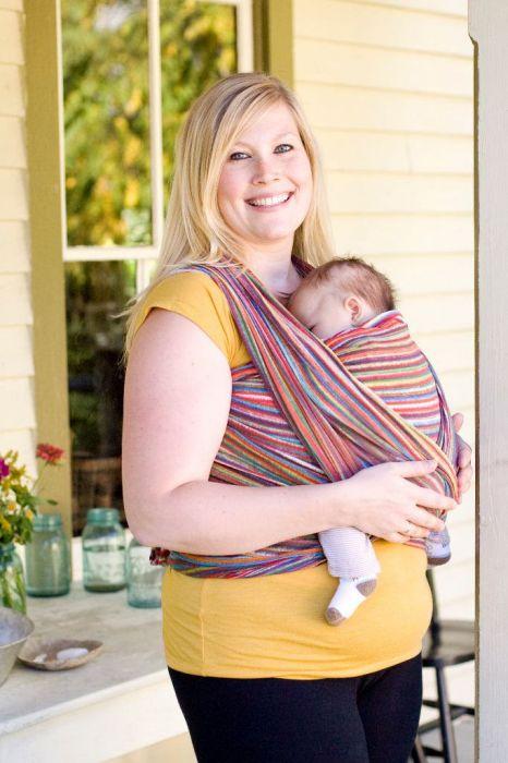 Little Baby in Wrapsody Breeze Iris gauze wrap