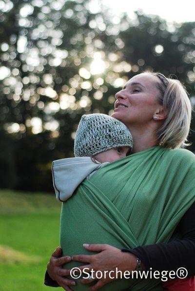Storchenwiege Leo Grun Green Woven Wrap