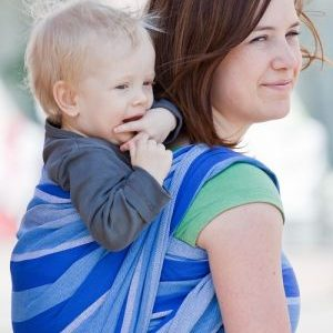 Storchenwiege Bio Eric, super supportive toddler back wrap