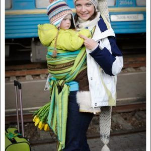 Ellevill Zara Tri Green Woven Wrap