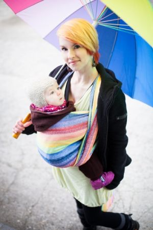 Gaia Rainbow Ellevill Wraparound Baby Carrier Wrap Your Baby