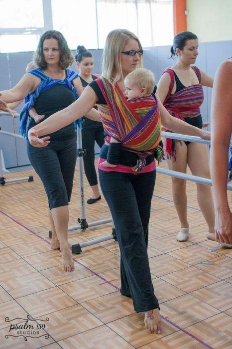 EllaRoo Ysabel for babywearing ballet class