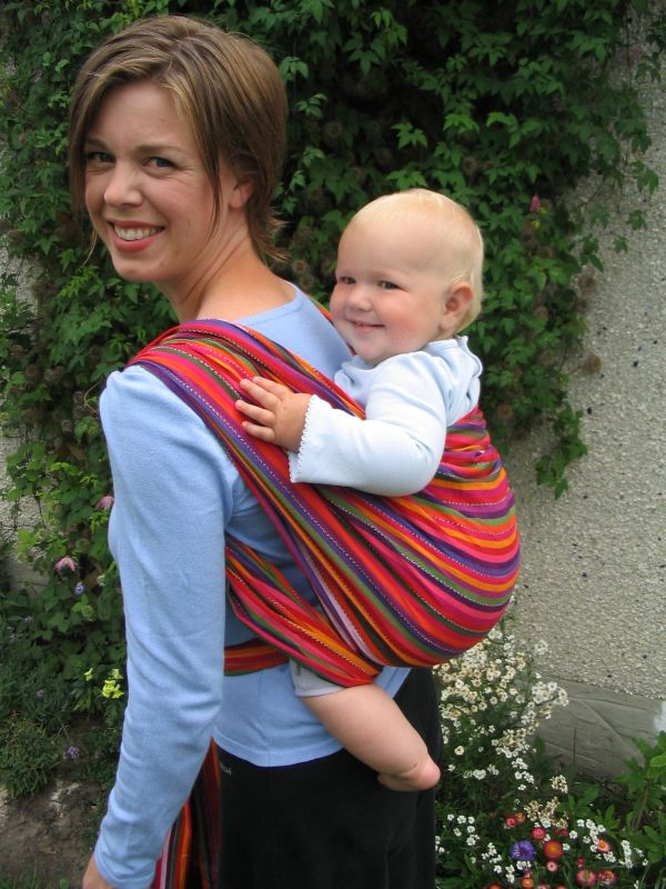 Rucksack Carry in EllaRoo LaRae Wrap
