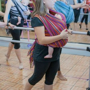 Front Carry at ballet class with EllaRoo LaRae