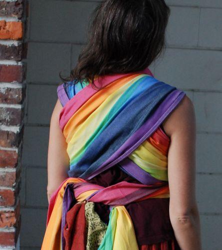 9aefdf72055 Cream Weft Rainbow Baby Easycare Woven Wrap - Wrap Your Baby