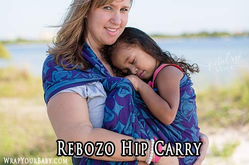 Rebozo Hip Carry with a short Woven Wrap