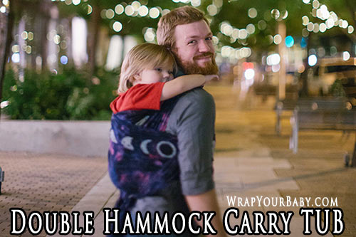 Double Hammock Carry TUB (tied under bottom)