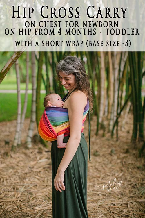 How to do Hip Cross Carry with a woven wrap