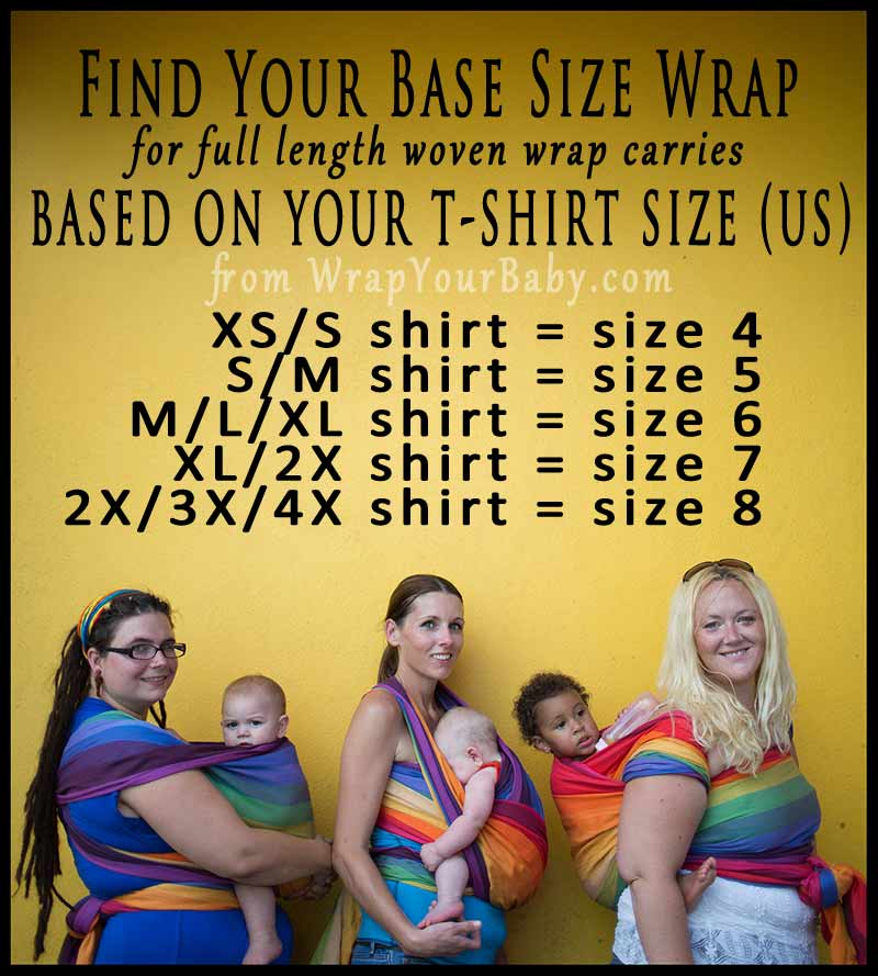 How to Find Your Base Size Woven Wrap