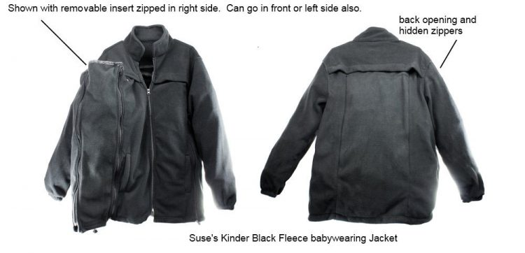 Front and Back of Kinder Jacket with Hip Insert