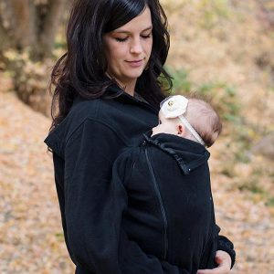 Front Carry with baby in a Kinderjacket
