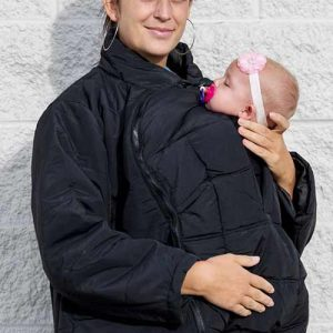Front Carry with an Oregon Babywearing Coat