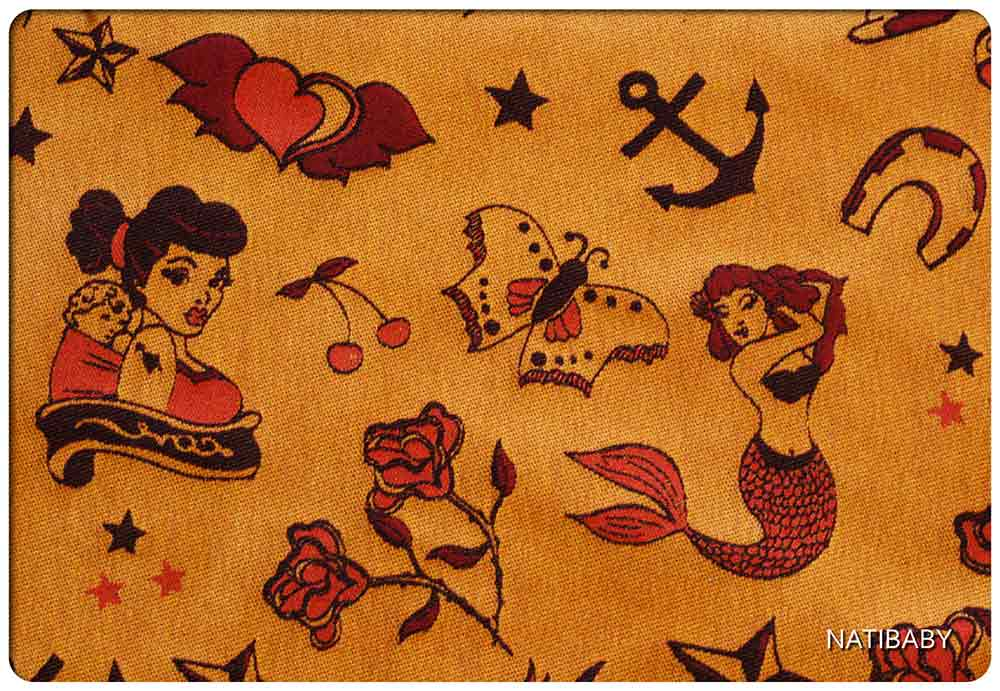 Classic Sailor Tattoo Design Woven Wrap from Natibaby