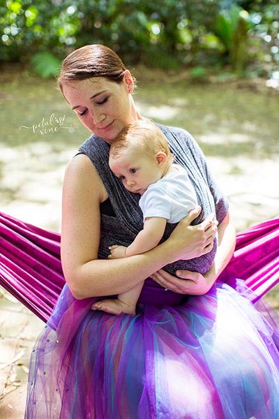Elegant Paisley Silver on Ballerina Mom