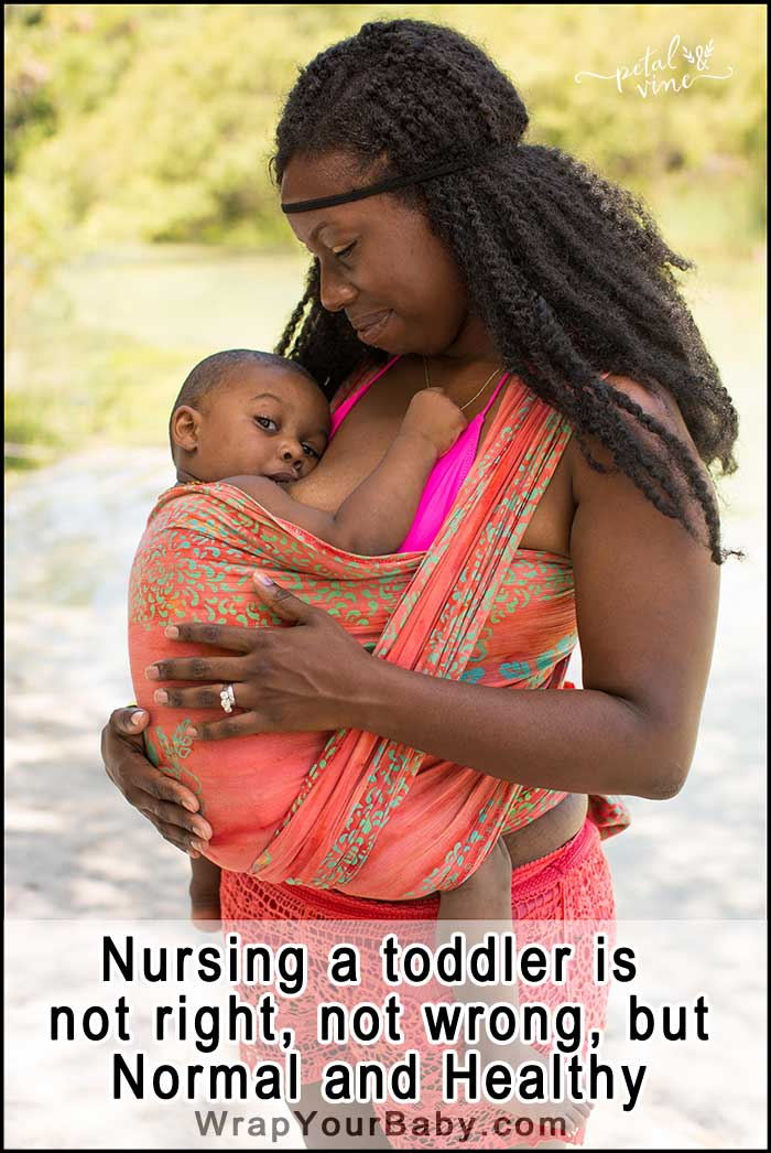 Toddler Nursing is normal around the world